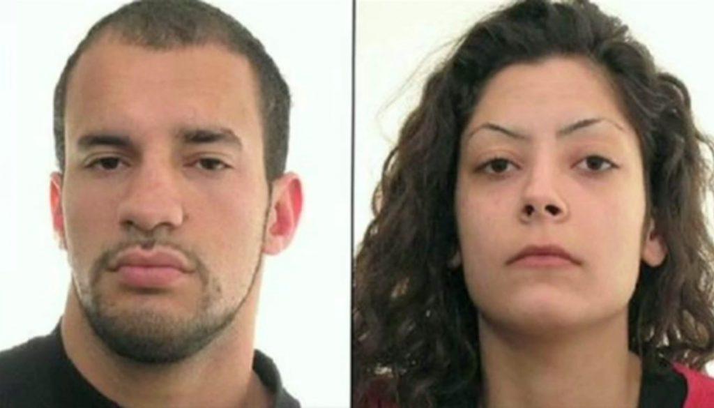 Gangster-Paar auf der Flucht