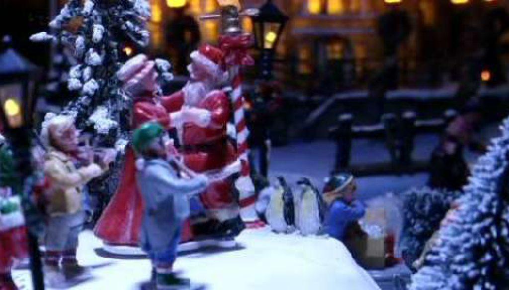 Weihnachtsdekoration soweit das Auge reicht