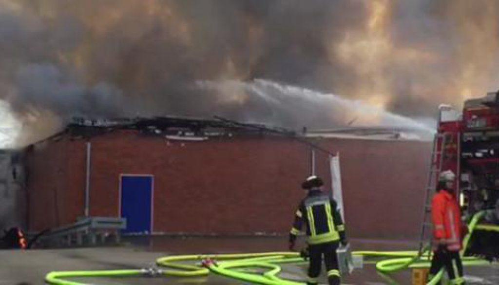 Netto-Markt brennt in Nordhorn