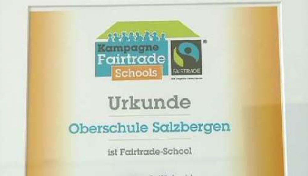 Oberschule Salzbergen ist jetzt Fairtrade-Schule