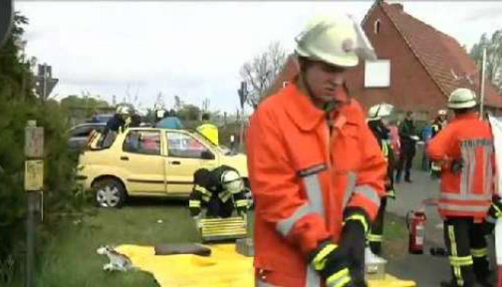 LKW erfasst Kleinwagen in Emlichheim