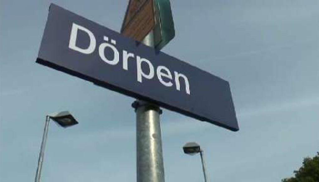 Inbetriebnahme des neuen Bahnhofs in Dörpen