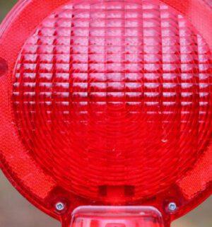 Warnlampe Strassensperrung Absperrung Strassenarbeiten
