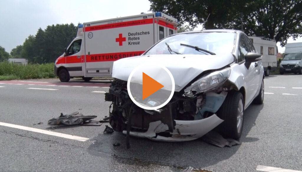 Unfall auf der B214 - Playbutton