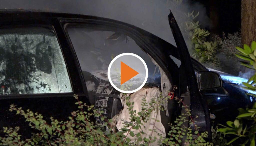 Screen_21 07 03 Auto fährt gegen einen Baum und fängt Feuer